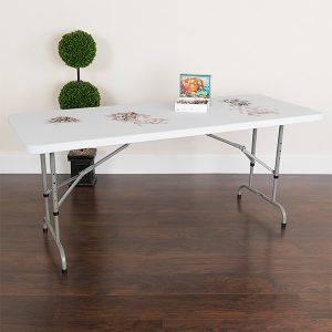 6' Adjustable Height Folding Table Props