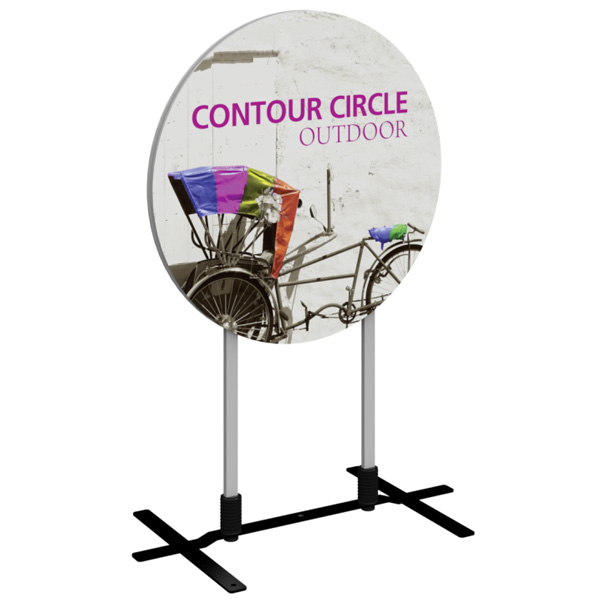 Contour Circle Outdoor Sign