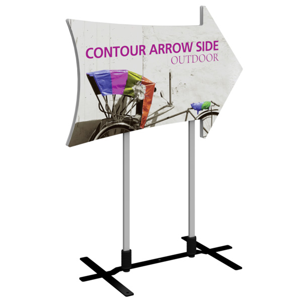 Contour Outdoor Sign Arrow Side
