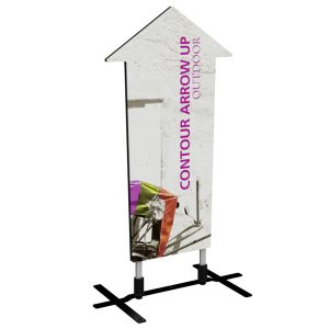contour outdoor sign arrow up