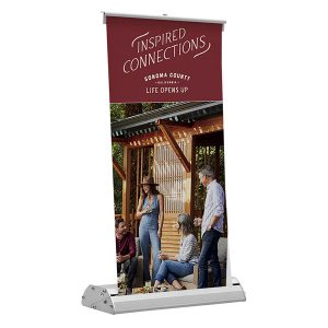 Deluxe Mini Retractor Retractable Banner Stand