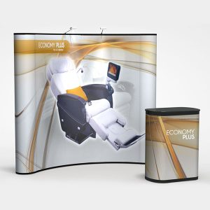 Economy Plus 8′ Curve Graphic Pop Up Display PL5-G5 DP