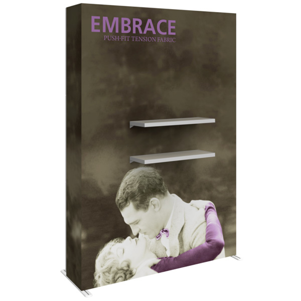 Embrace Tension Fabric Display Double Shelf Kit