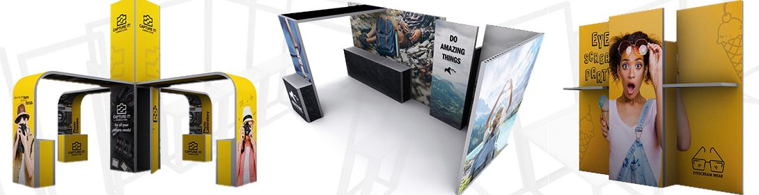 Modco Modular Exhibit Displays With SEG Fabric Graphics