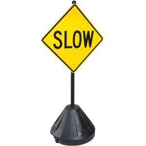 Portable XL Pole 3 Rolling Sidewalk Sign