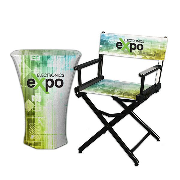 Portable Table With Fabric Graphics