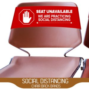 Social Distancing Chair Back Bands