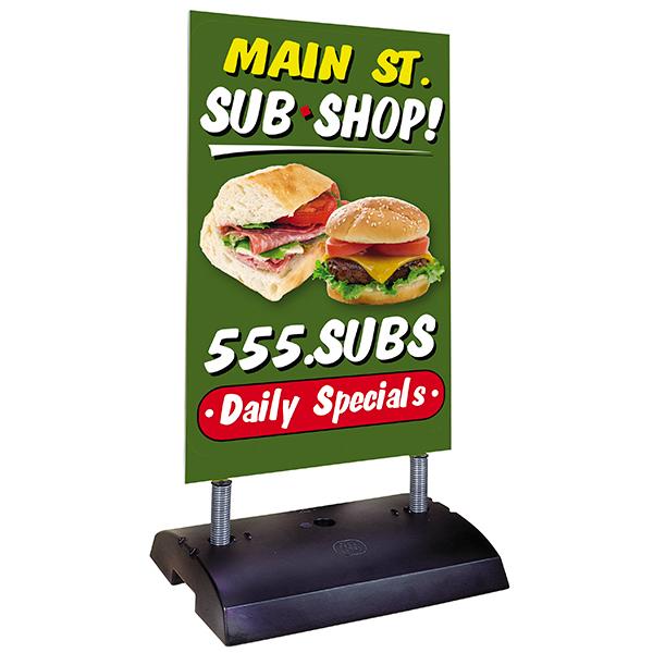 Stationary Springer Sidewalk Sign Board